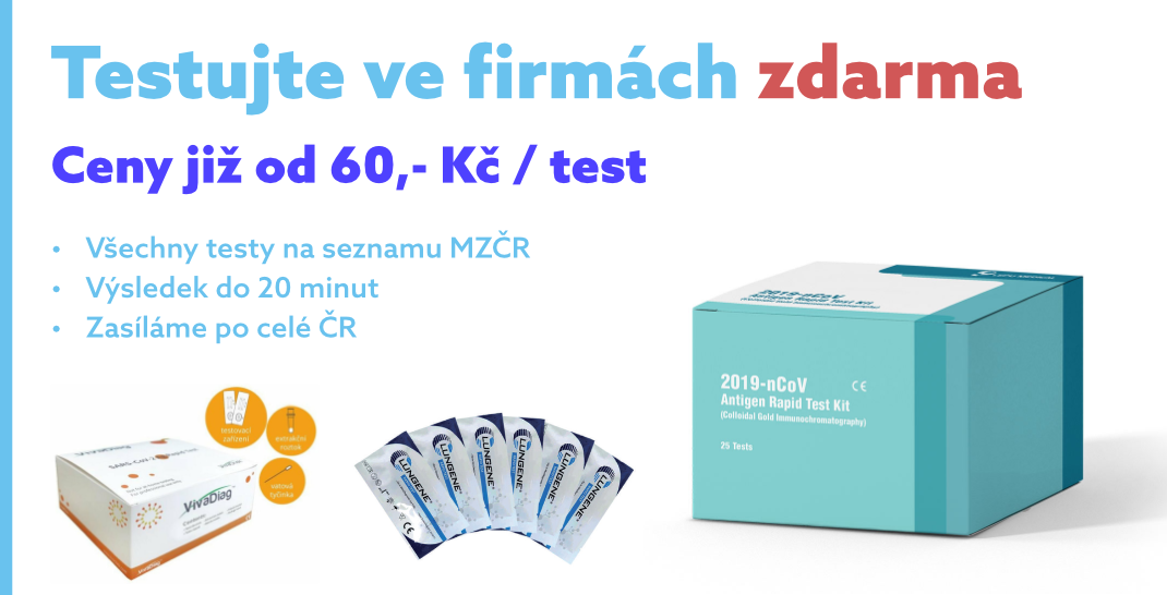 Antigenní testy a respirátory FFP2